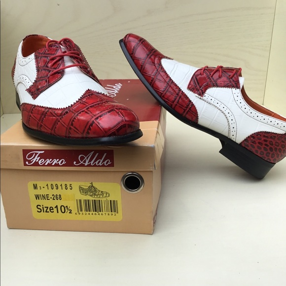 dccb74fd Ferro Aldo Shoes   Nwb Carl Oxford Wing Tip Crocodile Shoe   Poshmark
